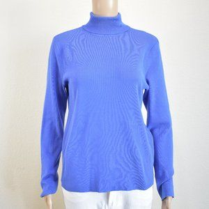 CHICO'S  Blue Turtle Neck